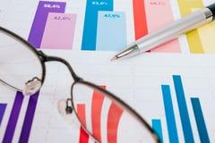 Grafici commerciali e diagrammi Immagine Stock Libera da Diritti