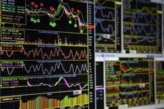 Grafici degli strumenti finanziari Immagine Stock