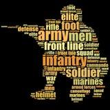 Grafici degli uomini della fanteria Fotografia Stock