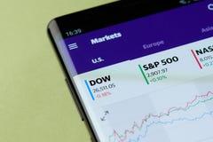 Grafici dei mercati degli Stati Uniti immagini stock