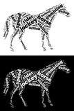 Grafici del cavallo di corsa Immagini Stock Libere da Diritti