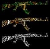 Grafici del fucile del AK47 Fotografia Stock Libera da Diritti