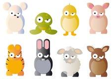 Grafici del fumetto degli animali Fotografia Stock