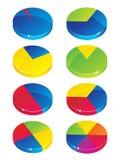 Grafici del grafico a torta Fotografia Stock