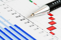 Grafici del mercato azionario. Fotografia Stock