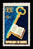 Grafici dell'anno internazionale del libro, circa 1972 Fotografia Stock
