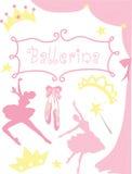 Grafici della ballerina Immagini Stock