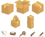Grafici della casella Fotografie Stock