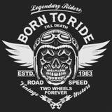 Grafici della maglietta del motociclo illustrazione vettoriale