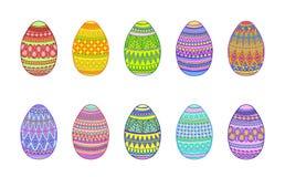Grafici della mano delle uova di Pasqua Immagine Stock