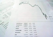 Grafici delle prestazioni finanziari fotografia stock