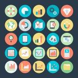 Grafici di affari, analisi dei dati ed icone 4 di vettore di investimento Fotografie Stock