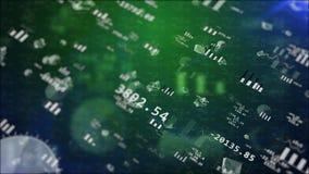 Grafici di borsa valori con i grafici di volo Fotografie Stock