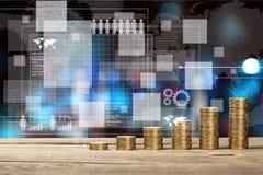 Grafici di finanza Fotografia Stock