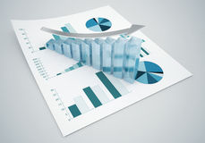 Grafici di finanza di affari Fotografie Stock Libere da Diritti
