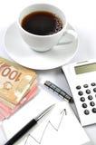 Grafici di finanze di affari dell'illustrazione immagine stock