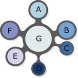 Grafici di informazioni del modello Applique con le ombre realistiche Fotografia Stock