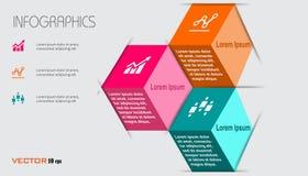 Grafici di informazioni di affari Fotografia Stock
