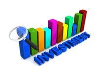 Grafici di investimento Fotografia Stock Libera da Diritti