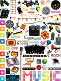 Grafici di musica Fotografia Stock Libera da Diritti