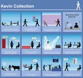 Grafici di serie del Kevin Fotografia Stock