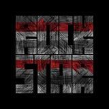 Grafici di tipografia del rock star con effetto di lerciume Fotografie Stock Libere da Diritti