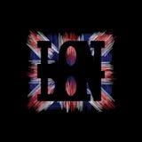Grafici di tipografia di Londra Progettazione di modo della maglietta Fotografie Stock Libere da Diritti