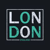 Grafici di tipografia di Londra, Inghilterra per la maglietta Stampa dei grafici di progettazione per abito originale Vettore illustrazione di stock