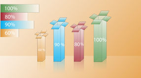 Grafici di vetro Immagini Stock Libere da Diritti
