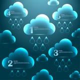 Grafici di vetro astratti 3D per progettazione Fotografia Stock
