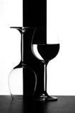Grafici di vetro di vino fotografie stock libere da diritti
