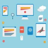 Grafici di web Immagine Stock