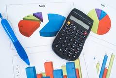 Grafici, diagrammi, tabella di affari Fotografia Stock