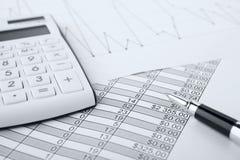 Grafici e diagrammi del mercato azionario Fotografia Stock