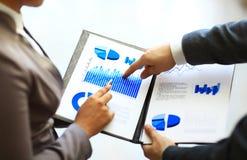 Grafici e grafici analizzati Fotografie Stock