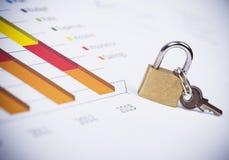 Grafici e numeri di affari Fotografie Stock Libere da Diritti