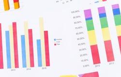 Grafici e numeri di affari Immagini Stock Libere da Diritti
