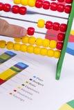 Grafici e numeri di affari Fotografia Stock