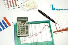 Grafici e statistiche Fotografie Stock Libere da Diritti