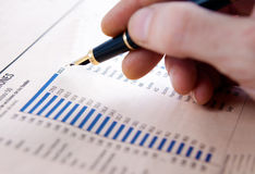 Grafici e statistiche Immagine Stock