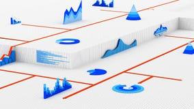Grafici finanziari Immagini Stock
