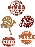 Grafici gastronomici della pizza Fotografie Stock