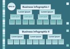 Grafici infographic di affari blu Fotografia Stock