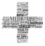 Grafici medici del Info-testo Fotografie Stock
