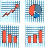 Grafici semplici di statistiche Fotografia Stock Libera da Diritti