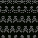 Grafici senza cuciture di tipografia del fondo delle ossa e del cranio, progettazione di modo della bandana - s illustrazione vettoriale