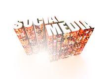 Grafici sociali di media Fotografia Stock