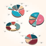 Grafici - stile del diagramma a torta Immagini Stock
