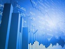 Grafici a strisce con lo scambio globale Immagini Stock
