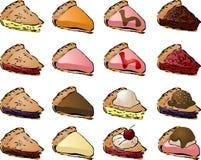 Grafici a torta Fotografia Stock